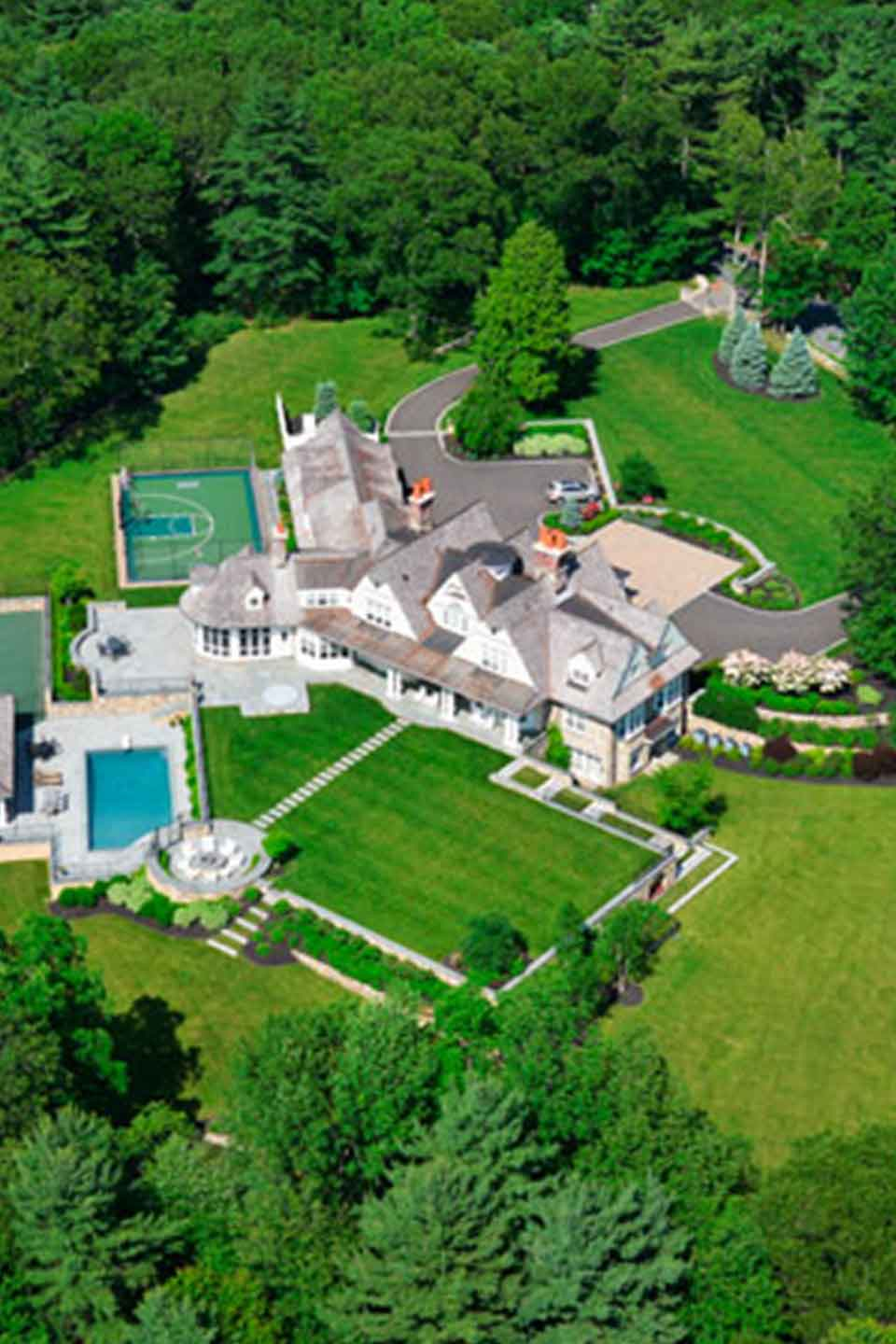 aerial view medfield mansion