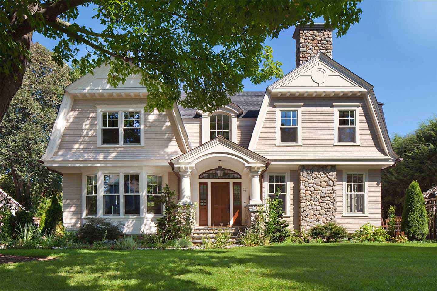 front view wellesley shingle style