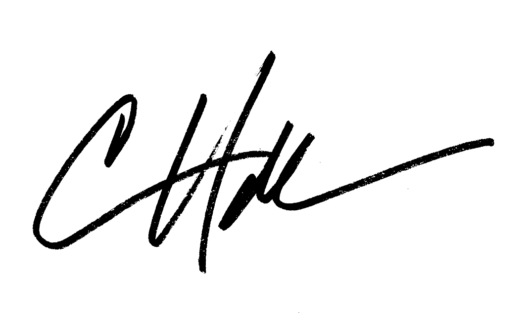 Christopher Hall Signature